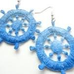 Nautical Blue Lace Earrings..